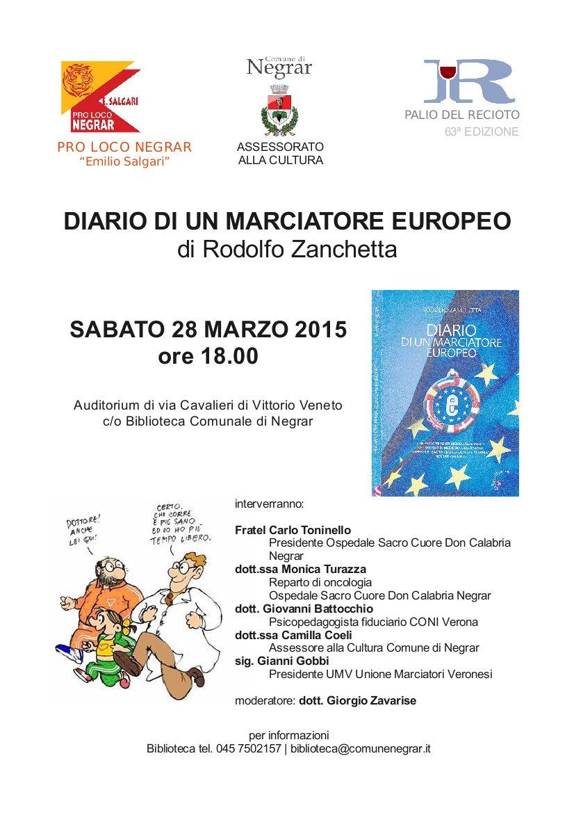 Unione Marciatori Veronesi Calendario.Presentazione Del Libro Di Rodolfo Zanchetta Sistema
